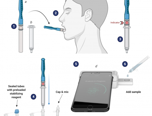 Smartphone-based saliva test that can detect COVID-19, malaria, and anemia